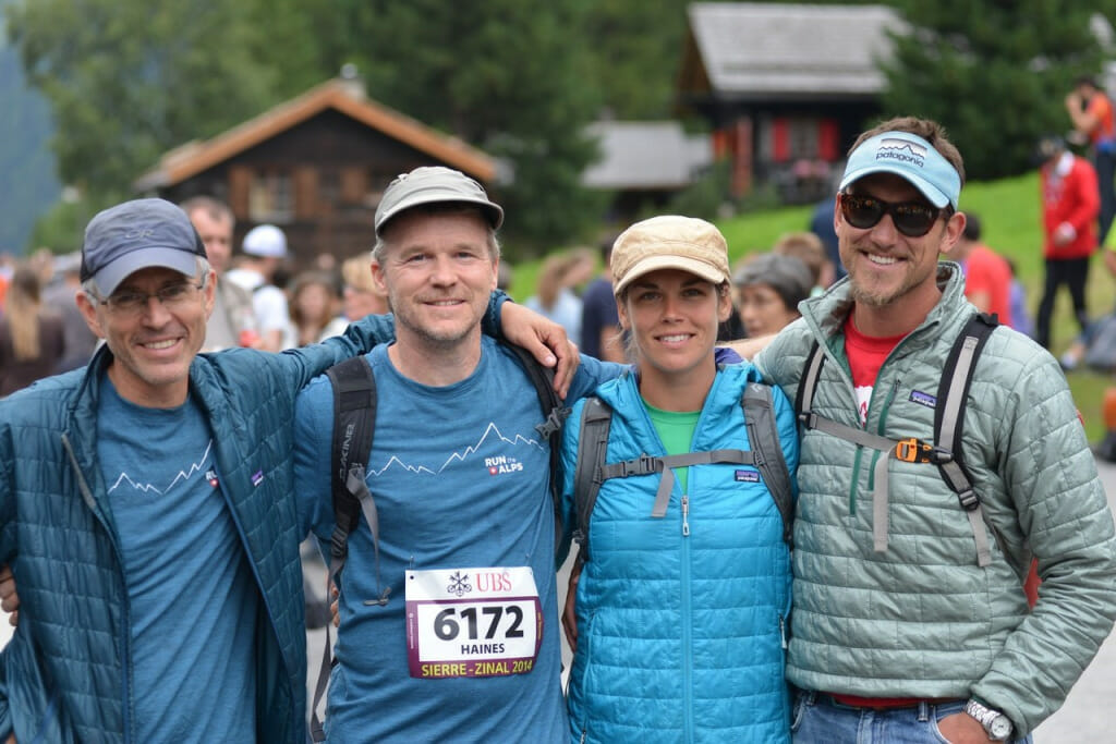 Our guides, after the famed Sierre-Zinal trail race. (Photo by Cédric Pignat.)
