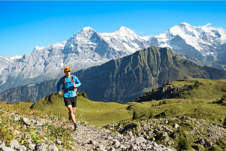 Run the Alps' Thom Fresneau cruises through the high country of the Berner Oberland.