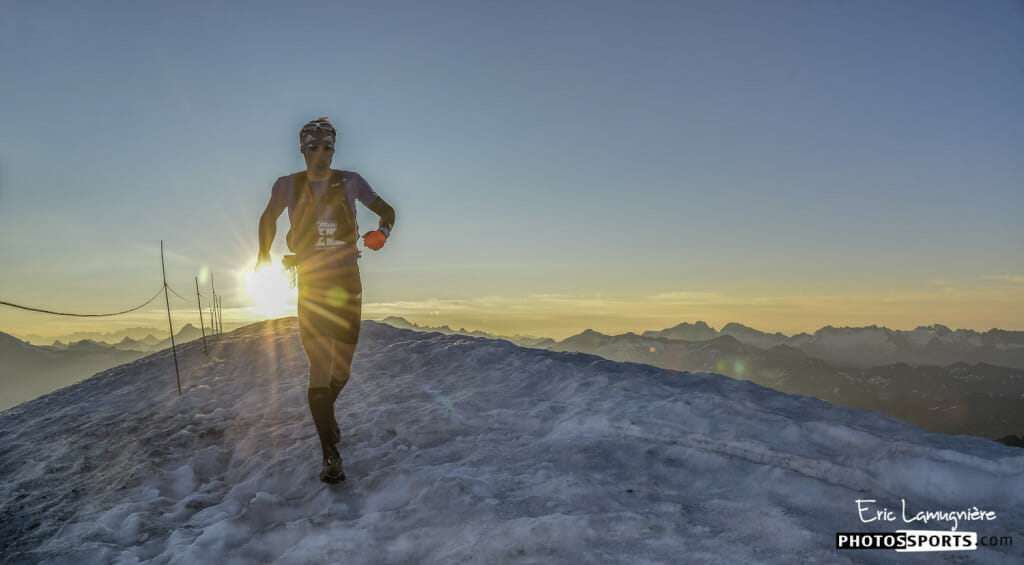 Summit of the Grande Motte. What trail race has a view like this? (Photo courtesy of Ice Trail Tarentaise.)