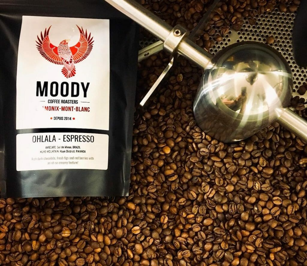 Moody coffee, freshly roasted in Chamonix, Holiday gift ideas