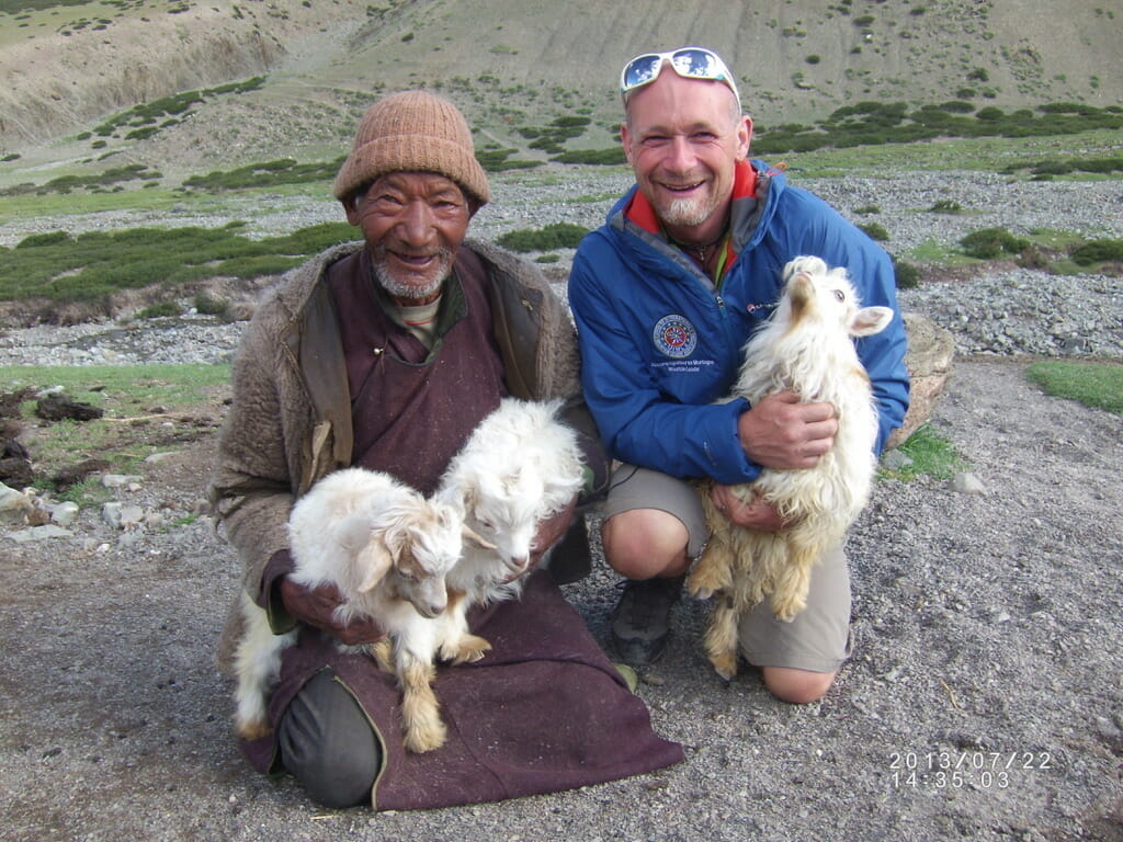 Run the Alps guide, Gary Daines, in the Shangphu Valley, Ladakh, India