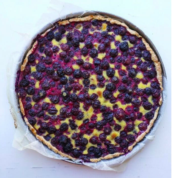 Tarte aux Myrtilles - you're never far from one in the Alps.